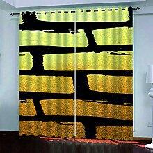 SDALD Vorhang Blickdicht Ösenschal Kreatives