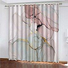 SDALD Vorhang Blickdicht Ösenschal Marmor Textur