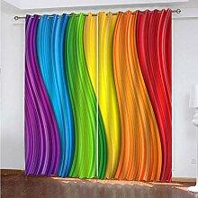 SDALD Vorhang Blickdicht Ösenschal Siebenfarbiger