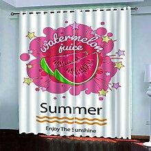 SDALD Vorhang Blickdicht Ösenschal Sommerfrucht