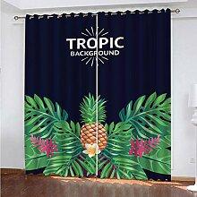 SDALD Vorhang Blickdicht Ösenschal Tropische
