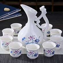 sdbey Weinglasexquisites Keramik-Weinset,
