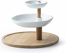 Sdesign Runde Kuchen-Standplatz, 26,5 cm, Bambus,