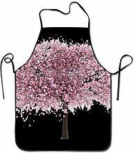 sdfgsdhffer Almond Tree Floral Aprons Bib Unisex