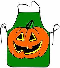 sdfgsdhffer Art Halloween Pumpkin Lantern Aprons