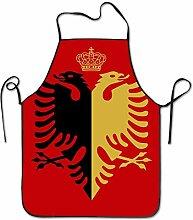 sdfgsdhffer Black Gold Bird Albania Flag Aprons