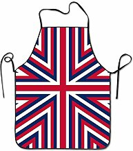 sdfgsdhffer Britain Flag Pattern Aprons Bib Unisex