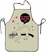 sdfgsdhffer Hang with You Sloth Print Cooking