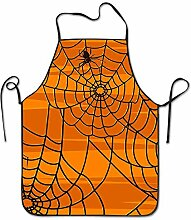 sdfgsdhffer Happy Halloween Spider Web Aprons Bib