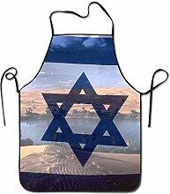 sdfgsdhffer Nature Israeli Flag Aprons Bib Mens