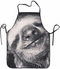 sdfgsdhffer Sloth Smile Pattern Aprons Bib Mens