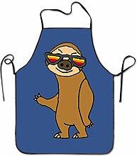 sdfgsdhffer Smile Sloth Cute Pig Aprons Bib Mens