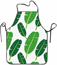 sdfgsdhffer Tropical Banana Leaves Pattern Aprons