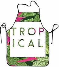 sdfgsdhffer Tropical Palm Leaves Floral Aprons Bib