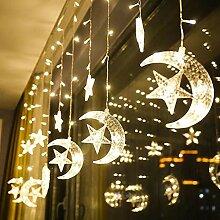 SDGDFXCHN LED Stern Vorhang Lichter Fenster