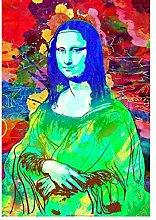 SDGW Abstrakte Bunte Mona Lisa Porträtplakate Und