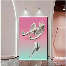SDGW Engel Mit Geld Lustige Skulptur Wandkunst