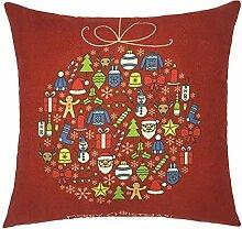 SDJBZ dekorative Kissenhülle 45 * 45 Weihnachten