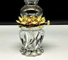 SDK Dimmbare Lotus-Petroleumlampe Kristallglas