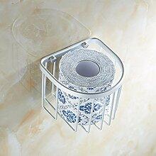 SDKIR-Aluminium Toilettenpapier halter Toilettenpapier Warenkorb Storage Rack Metall - Badezimmer Zubehör