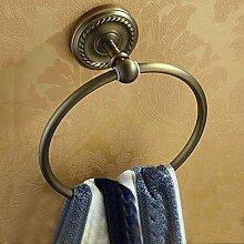 SDKIR-Antike Badezimmer Handtuchhalter Handtuchhalter in der Europäischen Kupfer Badezimmer Zubehör Handtuch Ring