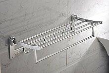 SDKIR-Badezimmer Glasregal Bad Raum Aluminium Handtuchhalter
