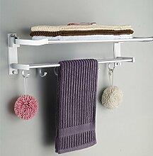 SDKIR-Badezimmer Regal aus gelochtem Aluminium Handtuchhalter
