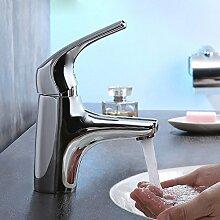 SDKIR- Das Badezimmer Waschbecken Wasserhahn Warmen Und Kalten Wasserhahn Becken Wasserhahn Verchromten Messing