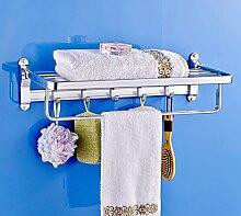 SDKIR-Dicke raum Aluminium Handtuchhalter Badezimmer Regal Badezimmer Wand Storage für Badezimmer Handtuchhalter, 27003