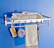 SDKIR-Dicke raum Aluminium Handtuchhalter Badezimmer Regal Badezimmer Wand Storage für Badezimmer Handtuchhalter, 27002