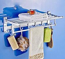 SDKIR-Dicke raum Aluminium Handtuchhalter Badezimmer Regal Badezimmer Wand Storage für Badezimmer Handtuchhalter