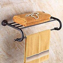 SDKIR-Die Europäische antike Regal Messing Handtuchhalter Ausstattung Badezimmer Hardware accessoires badezimmer hing Schwarz Bronze Handtuchhalter