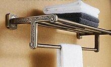 SDKIR-Grün Bronze Edelstahl accessoires badezimmer Handtuchhalter Zinklegierung Muster Handtuchhalter
