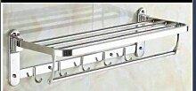 SDKIR-Handtuchhalter Edelstahl 304 Handtuchhalter Handtuchhalter Badezimmer Regal Handtuchhalter Aktivität Kleiderstange