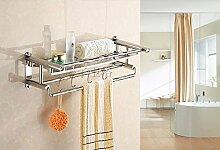 SDKIR-Hotel Handtuchhalter doppel Badewanne Regal Handtuchhalter Badezimmer Zubehör, Single Layer
