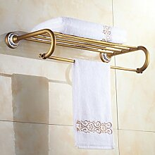 SDKIR-Im europäischen Stil Handtuchhalter Handtuchhalter Kupfer antik blau-weiß Porzellan Doppelzimmer mit Bad Regal Handtuchhalter