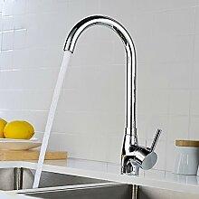 SDKIR-Kitchen Sink faucet Kupfer single Einloch Mischbatterie Waschbecken mit Wasserhahn
