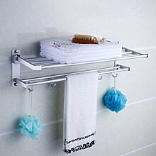 SDKIR-Klappbarer Aluminium Handtuchhalter doppel Handtuchhalter Badezimmer Regalfläche Aktivitäten Badezimmer Badezimmer Regal aufhängen