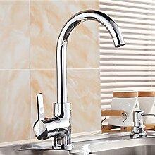 SDKIR-Kupfer Wasserhahn Küche Wasserhahn um 360 Grad gedreht Biegen wc Badezimmer Waschbecken Wasserhahn