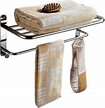 SDKIR-Kupferfreie Badezimmer Hardware Zubehör raffiniertes Kupfer Doppel rack Handtuchhalter Handtuchhalter Regal