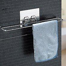 SDKIR-Leistungsstarke cupule nahtlose Handtuchhalter Küche Tuch legen Handtuchhalter Regal bad Regal aus perforiertem