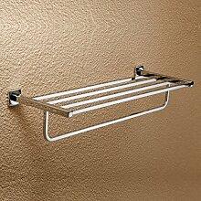 SDKIR-Messing verchromter Handtuchhalter Badezimmer Zubehör Handtuchhalter Regal