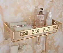 SDKIR-Platz Aluminium Handtuchhalter Badezimmer Handtuchhalter Badezimmer mit doppelter Breite - dicken Aluminiumplatte mit Rod Racks, B