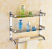 SDKIR-Platz Aluminium Regale Doppelzimmer Badezimmer wc Regal rack Regal mit Handtuchhalter, 40 cm