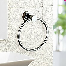 SDKIR-Sanitär Dusche aufhängen Handtuchring bad Marmor Edelstahl Handtuch Aufhängeöse