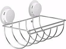 SDKIR-Saugnapf Handtuchhalter Bad WC fach Edelstahl Toilettenpapierhalter Papierhalter kreative Küche roll Röhren