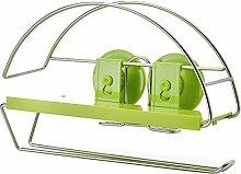 SDKIR-Sucker Tissue Box Edelstahl Küche Regal Badezimmer Handtuchhalter