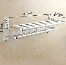 SDKIR-Verdickte Badezimmer Handtuchhalter Badezimmer Handtuchhalter freies Loch Saugnapf Rack wc Wandhalterung, A3