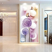 SDKKY 3D-Leinwand Tapete selbstklebende Flur Preise pro Quadratmeter, Bild Farbe Dekorative Wandpapier