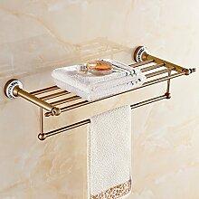 SDKKY Aluminium Handtuchhalter Handtuchhalter Raum antike Badezimmer Zubehör Accessoires Badezimmer Das Badezimmer Regal 650*145*130mm